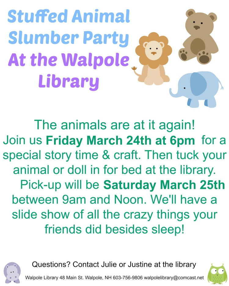 stuffed animal slumber party