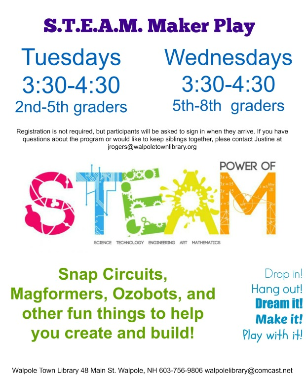 maker play wednesday flyer