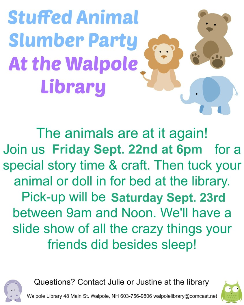 stuffed animal slumber party September